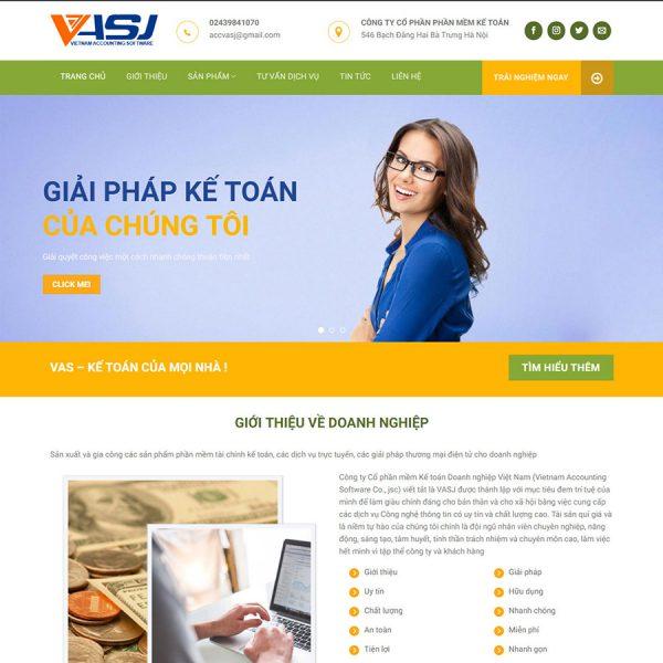Mẫu giao diện Vietnam Acounting Software